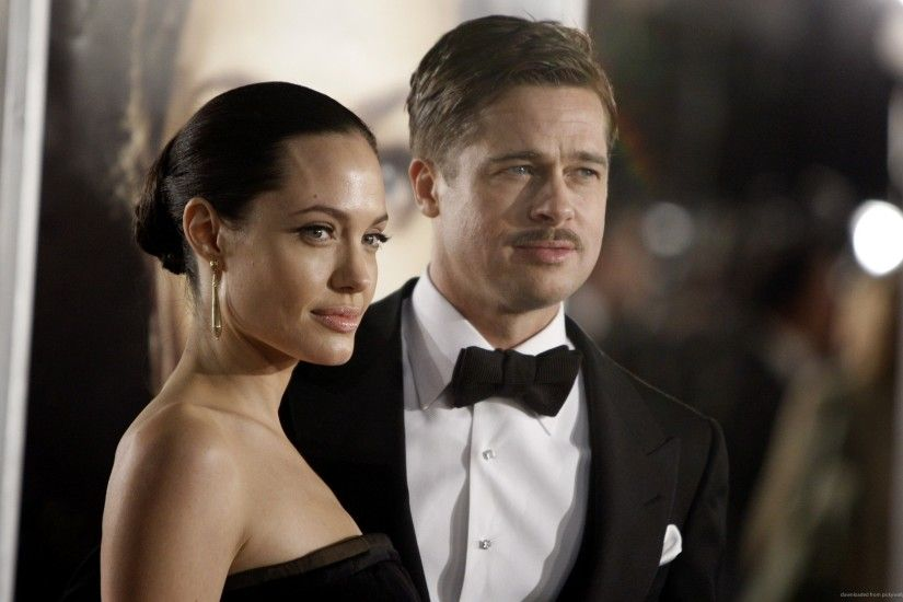 Angelina Jolie and Brad Pitt for 2560x1600