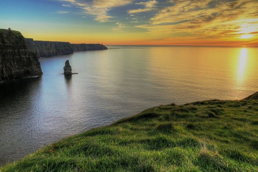 Cliffs-Of-Moher-Ireland Ireland HD free wallpapers backgrounds .