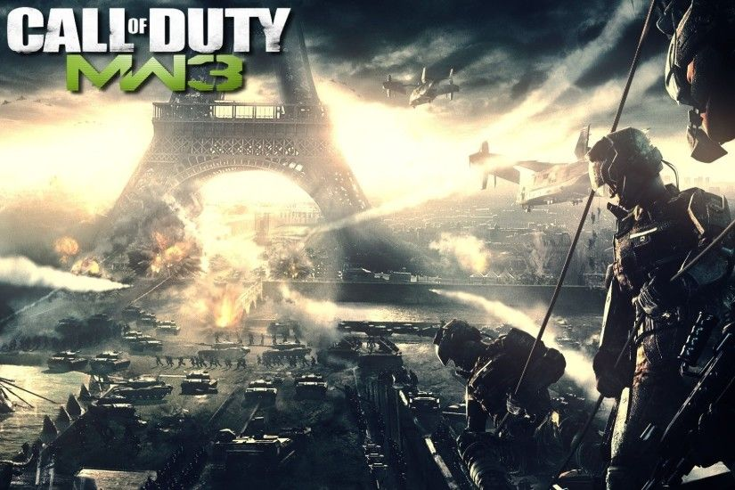 Preview wallpaper call of duty modern warfare 3, france, eiffel tower,  soldiers,