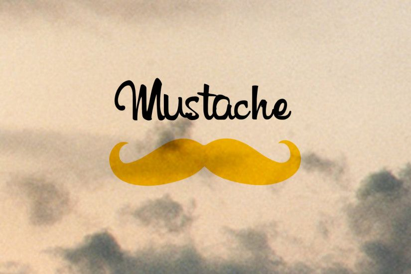 1920x1080 Wallpaper mustache, minimalism, inscription
