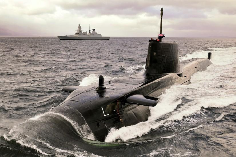 military, Submarine, Navy, Astute class Submarine, Royal Navy, Destroyer,  Ship Wallpaper HD