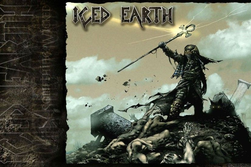 ICED EARTH heavy metal death power thrash 1iced artwork dark evil fantasy  poster warrior reaper wallpaper | 1920x1200 | 762718 | WallpaperUP