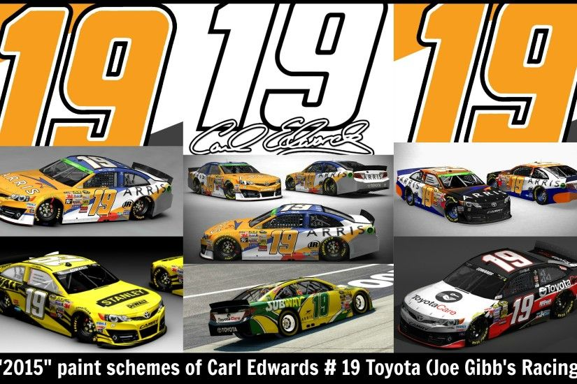 2015 Paint scheme, sponsors, and new team for Carl Edwards # 19 Toyota.