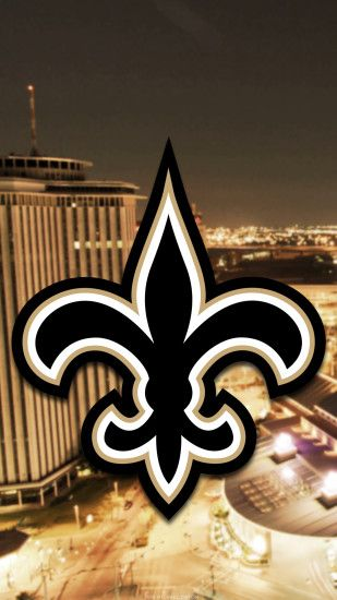 ... New Orleans Saints city 2017 logo wallpaper free iphone 5, 6, 7, galaxy