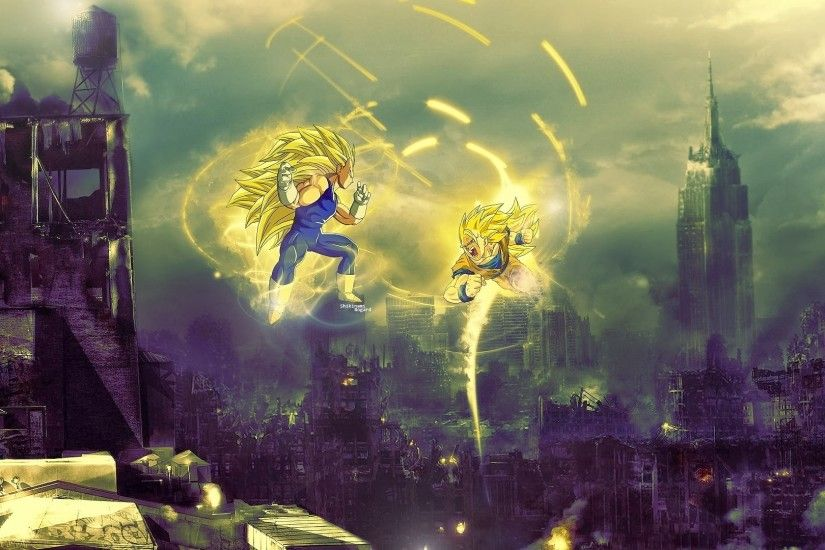 goku vs vegeta super saiyan 3 dragon ball z anime wallpaper 1920x1080