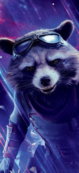 Rocket Raccoon In Avengers Endgame (Iphone XS,Iphone 10,Iphone X)