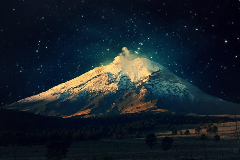 Snowy Mountain Starry Sky wallpapers