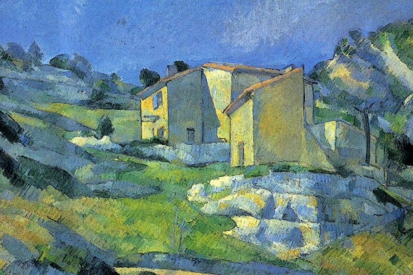 "... in Provence"" (1882-1885) by Paul Cézanne. """
