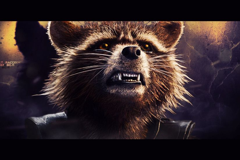 ... Rocket Raccoon wallpaper (4) by BiigM