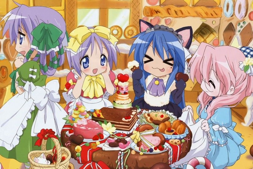lucky star, girls, candy