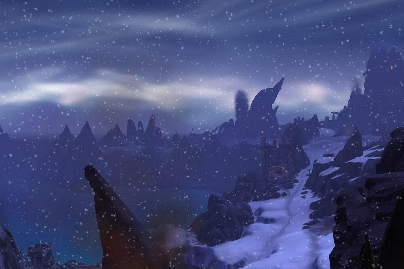 ... Frostfire Ridge Dual Screen Wallpaper 3840x1080 by countcardboard