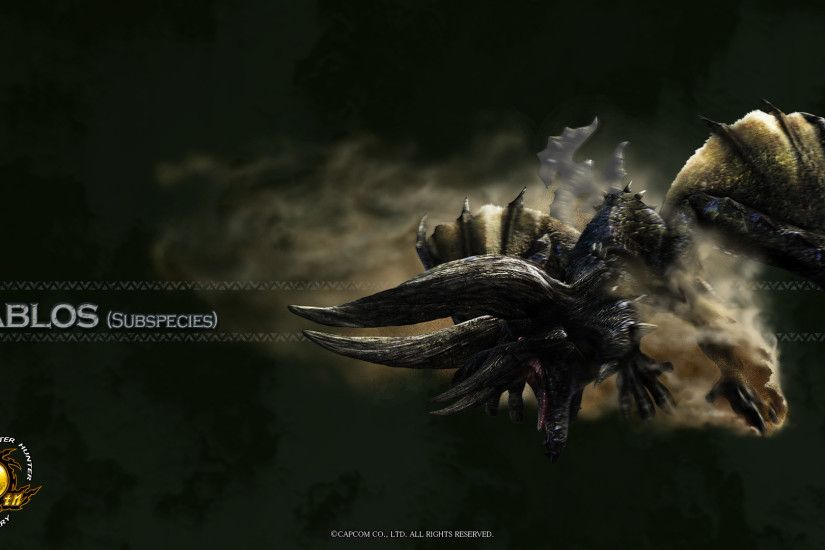 Image - MH 10th Anniversary-Black Diablos Wallpaper 001.jpg | Monster Hunter  Wiki | FANDOM powered by Wikia