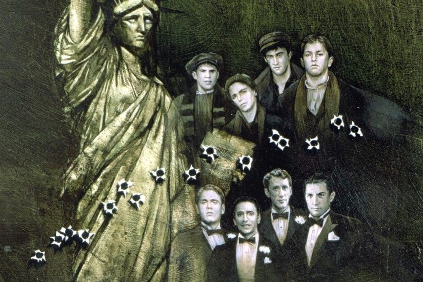 2048x1152 Wallpaper once upon a time in america, boys, statue of liberty