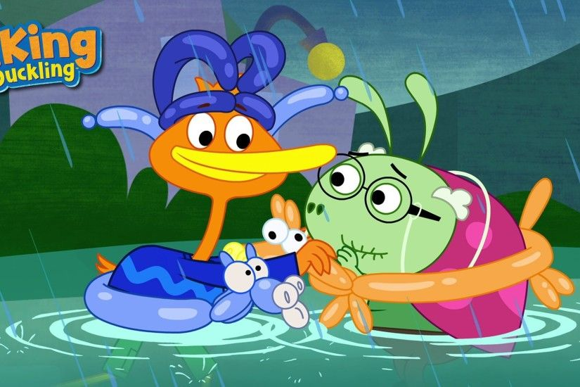 It's Monday and P. King Duckling is on Disney Junior at