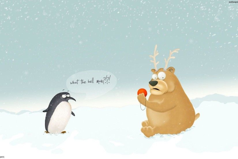 Wallpapers For > Funny Christmas Wallpapers