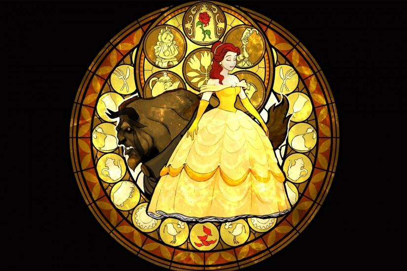Beauty And The Beast Stained Glass wallpaper - 928127