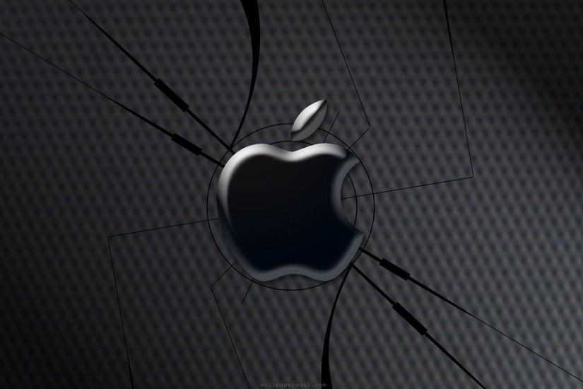 3D Black Apple Logo Wallpaper 1354 Full HD Wallpaper Desktop - Res .