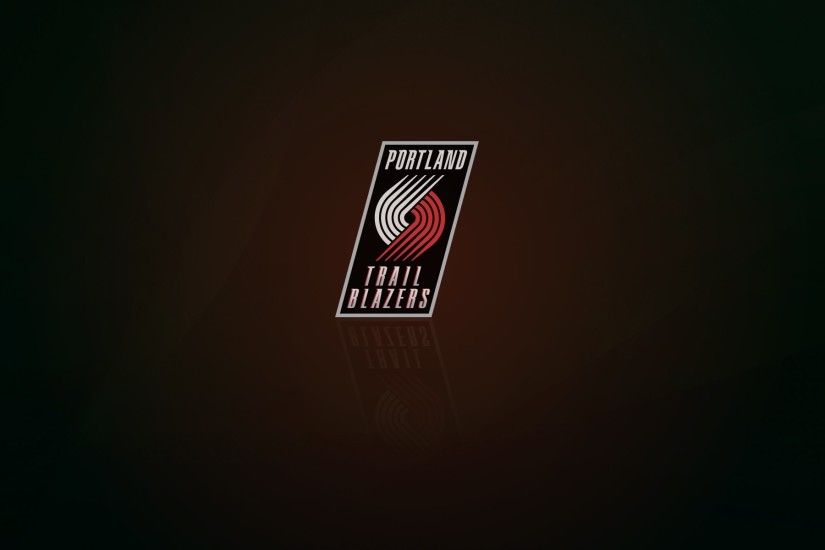 Portland Trail Blazers wallpaper and logo with shadow, widescreen  1920x1200px, 16x10