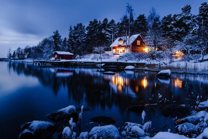 Beautiful Winter Night Wallpaper