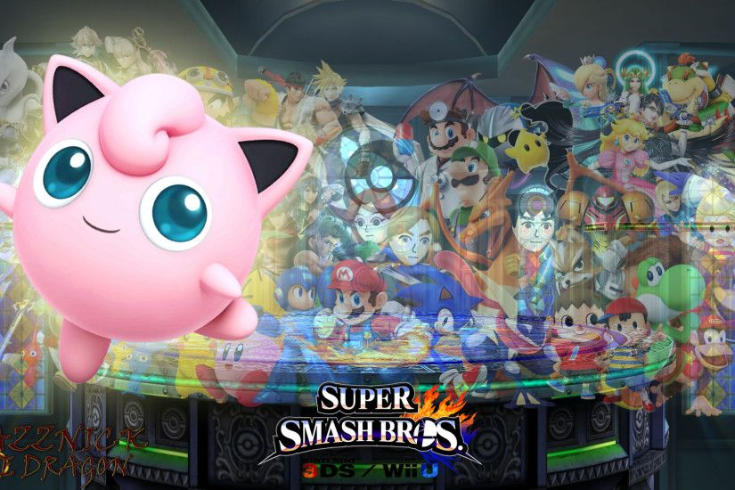 SSB4 Wallpaper Jigglypuff by Mazznick SSB4 Wallpaper Jigglypuff by Mazznick