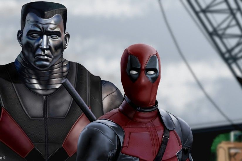 1920x1080 Wallpaper deadpool, colossus, art, superheroes