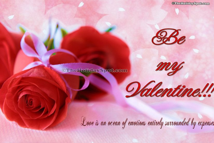 HD valentine's day wallpapers of two red roses
