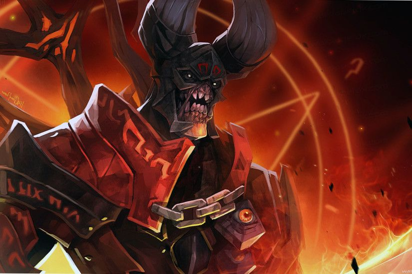 lucifer doom dota 2 abstract full hd wallpaper