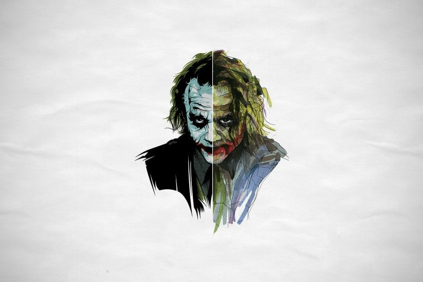 Preview wallpaper joker, art, face 2560x1440