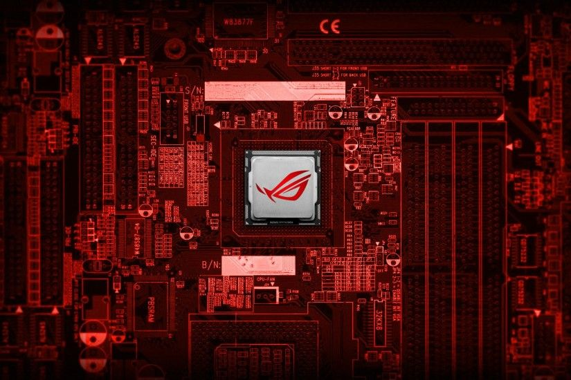 Technology - Asus Computer Technology Red Motherboard Wallpaper