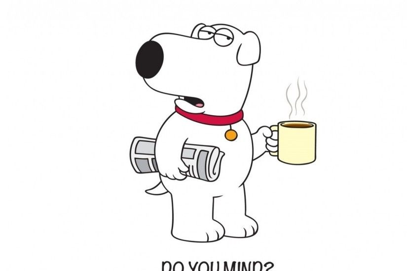 3840x2160 Wallpaper family guy, brian, griffin, dog, newspaper, coffee