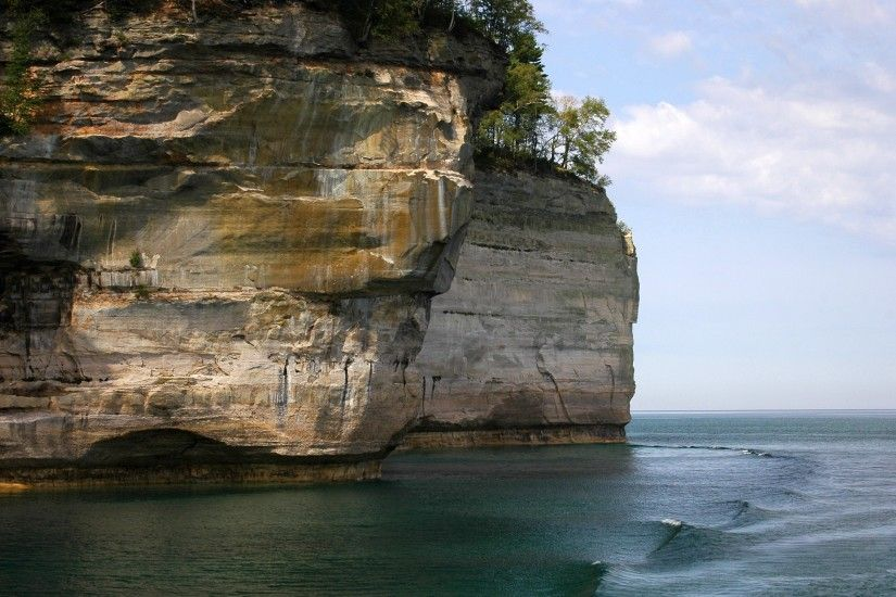 Pictured Rocks Wallpaper Landscape Nature Wallpapers