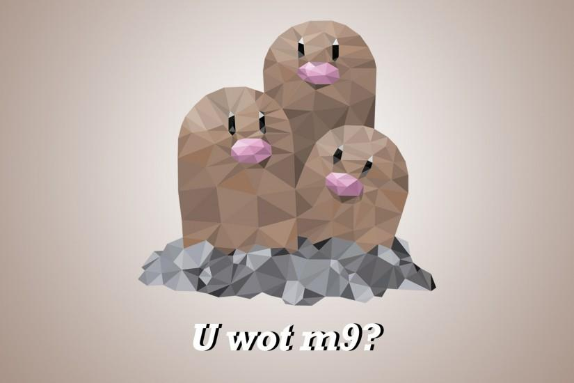 ... PolyMon Dugtrio Polygonal Pokemon PC Background by NirthPanter