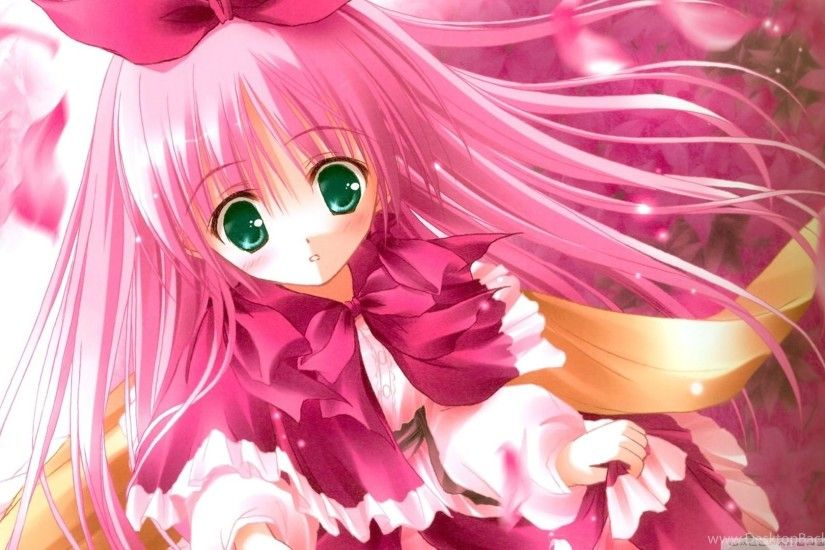 Cute Pink Anime HD Desktop Wallpapers : Widescreen : High .