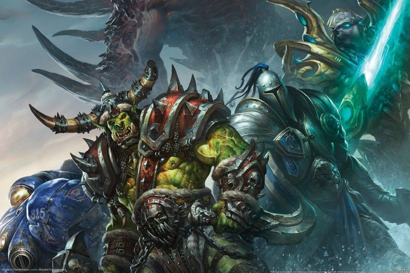 World Of Warcraft Wow Orc Warrior Armor Horns Games Fantasy 2560x1440 :  Wallpapers13.com