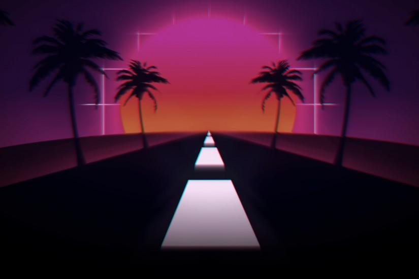 amazing synthwave wallpaper 1920x1080 tablet