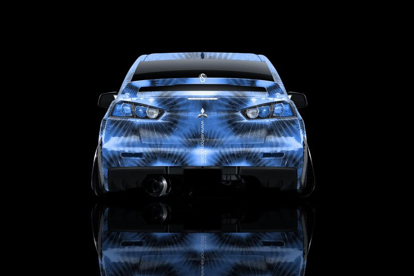 ... Mitsubishi-Lancer-Evolution-X-Back-Blue-Kiwi-Aerography- ...
