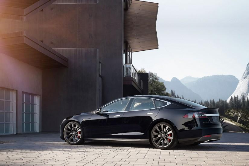 2015 Tesla Model-S P85D electric supercar wallpaper | 2560x1600 | 600830 |  WallpaperUP