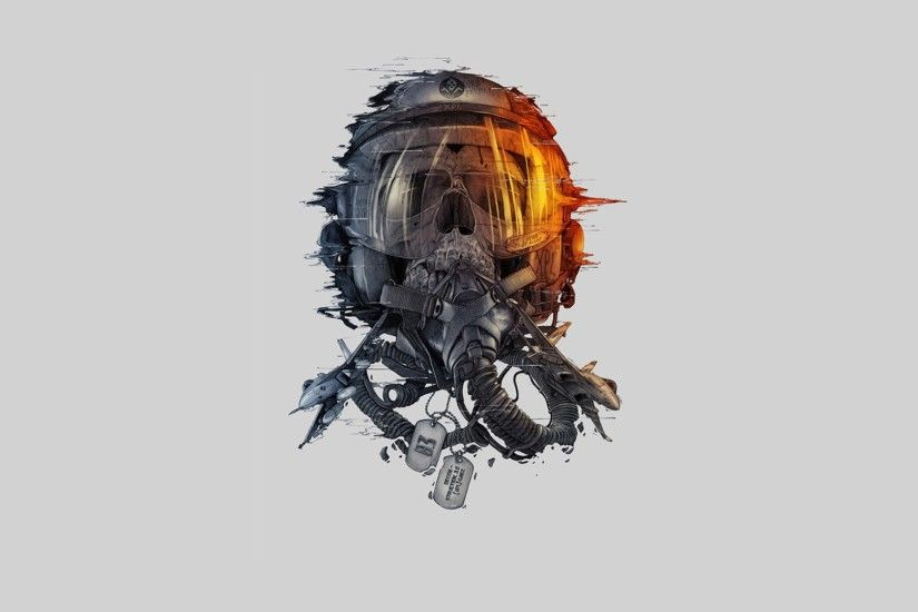 digital Art, Pilot, Skull, Helmet, Simple Background, White Background,  Military Aircraft, Teeth, Glass, Green Wallpapers HD / Desktop and Mobile  ...