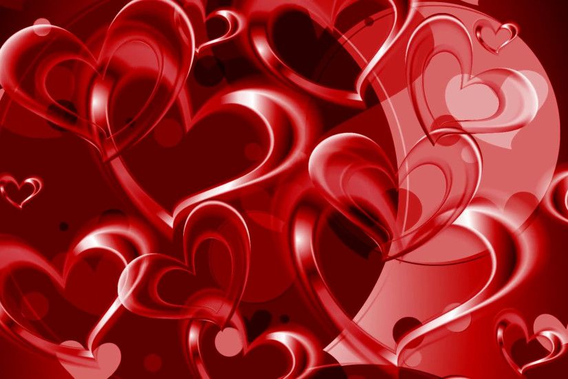 Valentine Day graphic design with red hearts. Video animation HD 1920x1080