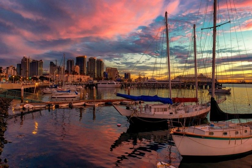 Preview wallpaper san diego, united states, pier, sunset, beautiful,  california 1920x1080