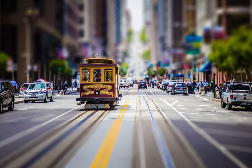 street, Car, Road, Tilt Shift, Cityscape, San Francisco Wallpapers HD /  Desktop and Mobile Backgrounds