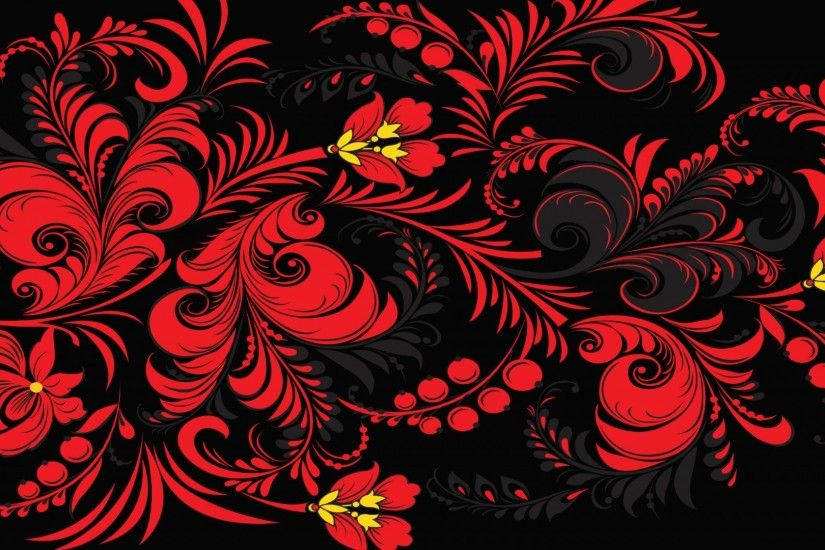Preview wallpaper khokhloma, pattern, color, background, russia, texture  1920x1080