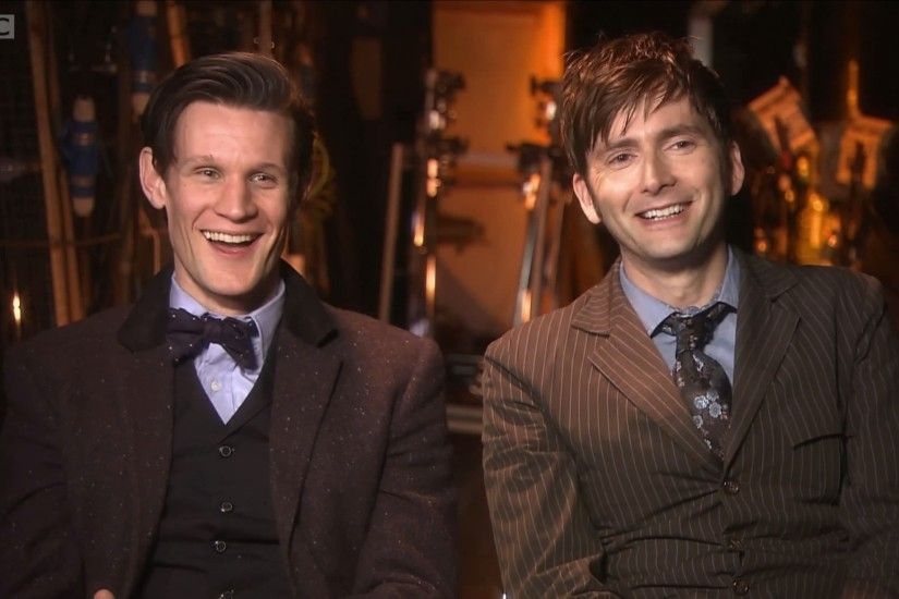 David Tennant and Matt Smith - Doctor Who 50th Anniversary Special (c) BBC  Amrica