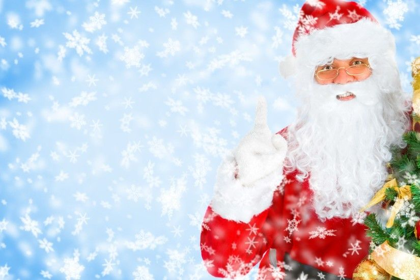 santa christmas wallpaper backgrounds ; Christmas-Santa-Claus-Photo
