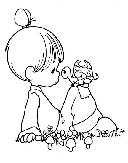 Image Precious Moments Coloring Pages Q12