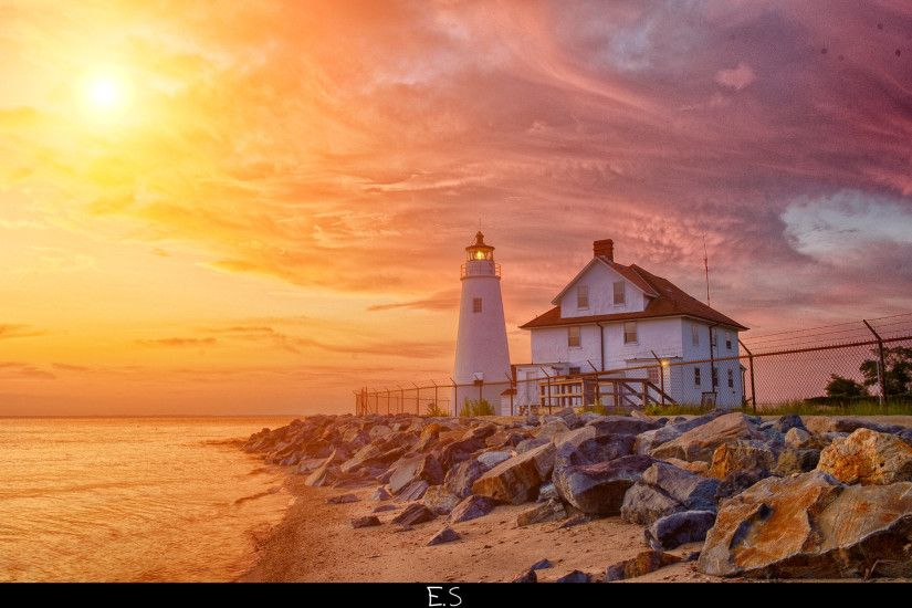 Lighthouse HDR Wallpaper by EmircanSevindik Lighthouse HDR Wallpaper by  EmircanSevindik