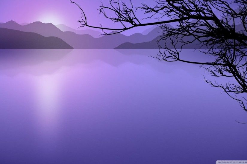 ... calm lake cartoon hd desktop wallpaper high definition ...