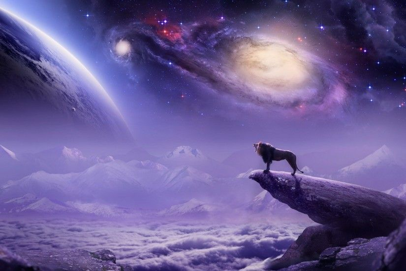 lion-planet-mountains-art-fantasy-space. In Astrology, LEO ...