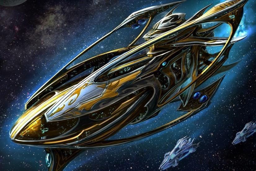 Preview wallpaper starcraft, spaceship, space, stars 1920x1080
