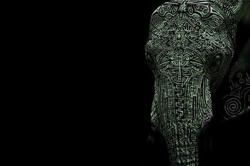 Tattooed elephant HD Wallpaper 1920x1080 Tattooed ...